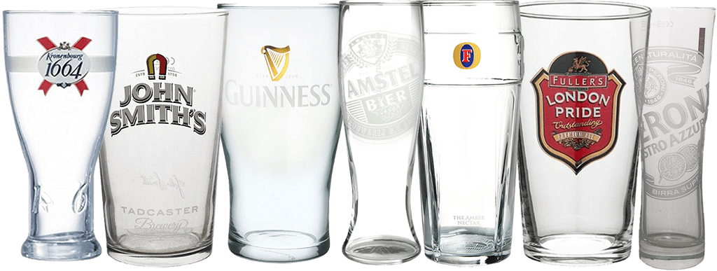 Нанесение логотипов на пивной бокал
